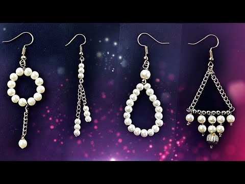 Pearl Earring Compilation Part 3 - How to Make Earrings At Home