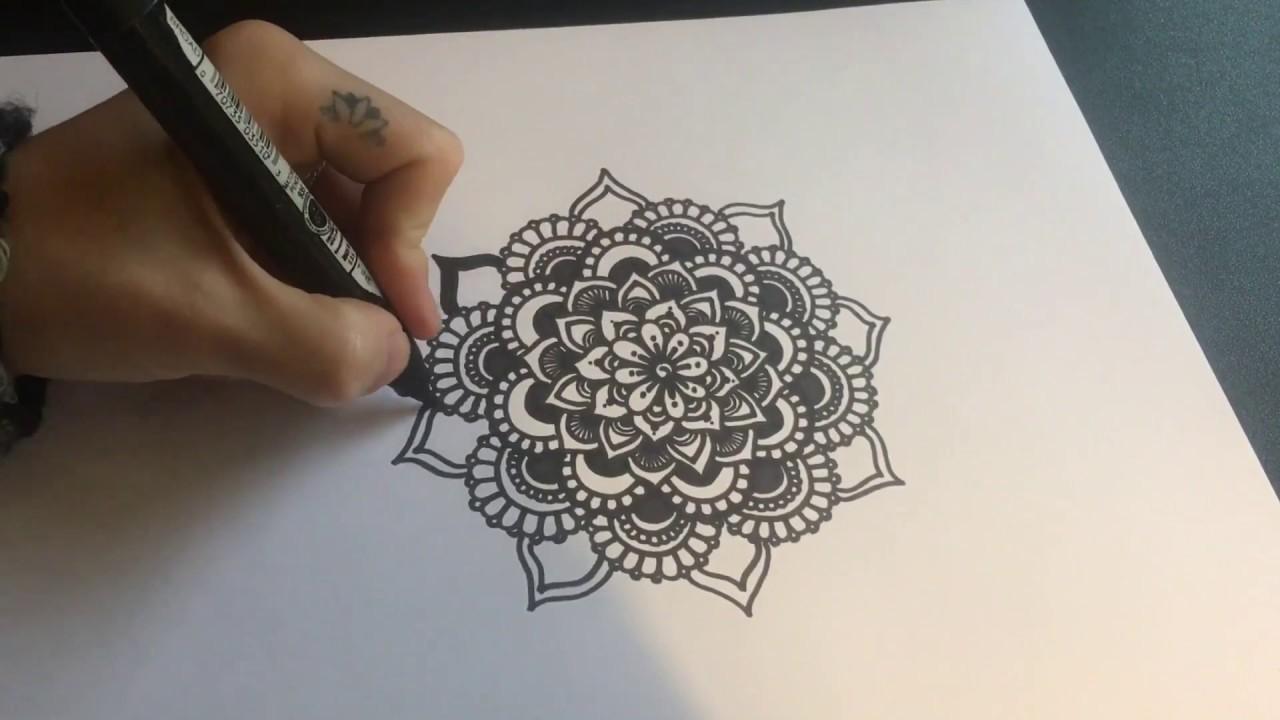 Freehand Mandala Drawing - 5 - Nicky Kumar Art