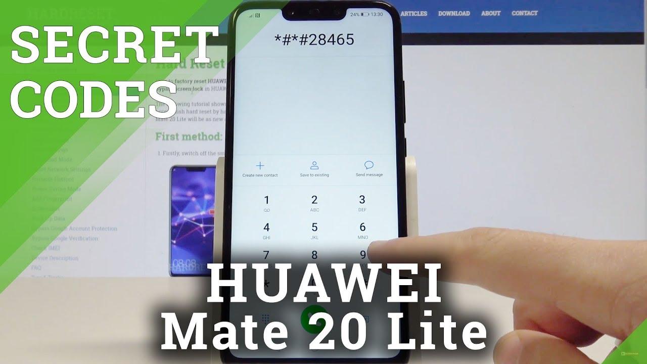 Secret Codes HUAWEI Mate 20 Lite - Hidden Mode / Advanced Features / Secret  Menu