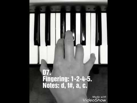 D7 Chord Lesson Piano Keyboard Fingering Blues Music Youtube