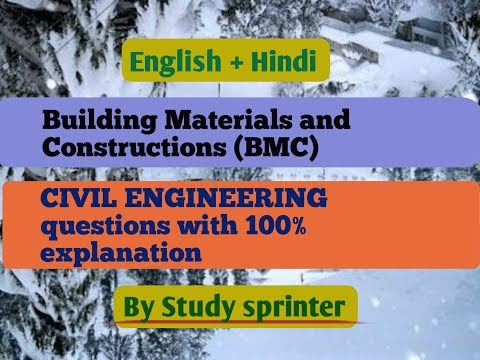 Building Materials and Constructions Part-1 ||SSC JE 2017||CIVIL||