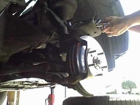 2003 Honda CRV Brake Pad And Rotor Change Part 2   YouTube