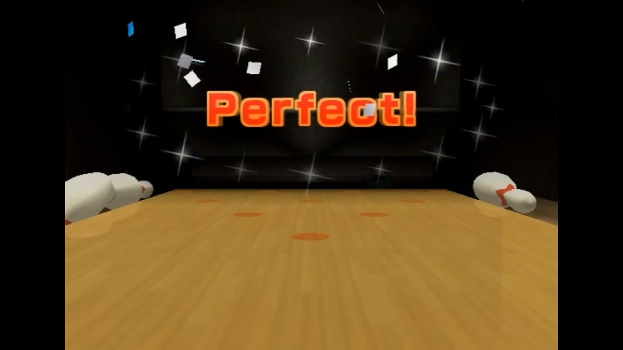 wii sports bowling 300 perfect game youtube. Black Bedroom Furniture Sets. Home Design Ideas