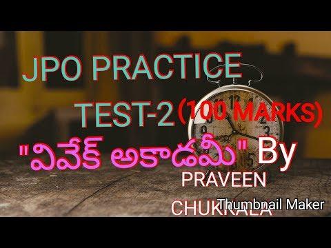 JPO PRACTICE TEST - 2(100 MARKS) ,