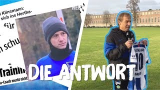 KLINSMANN ANTWORTET l YouTuber Marvin Crashed Hertha-Training!