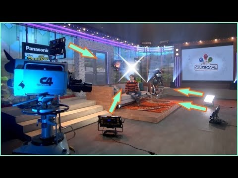 tv studio camera techniques with television set lighting