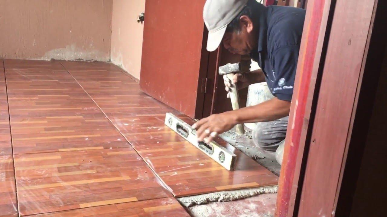 Seproal instalaci n piso cer mico guatemala youtube for Pisos de diseno
