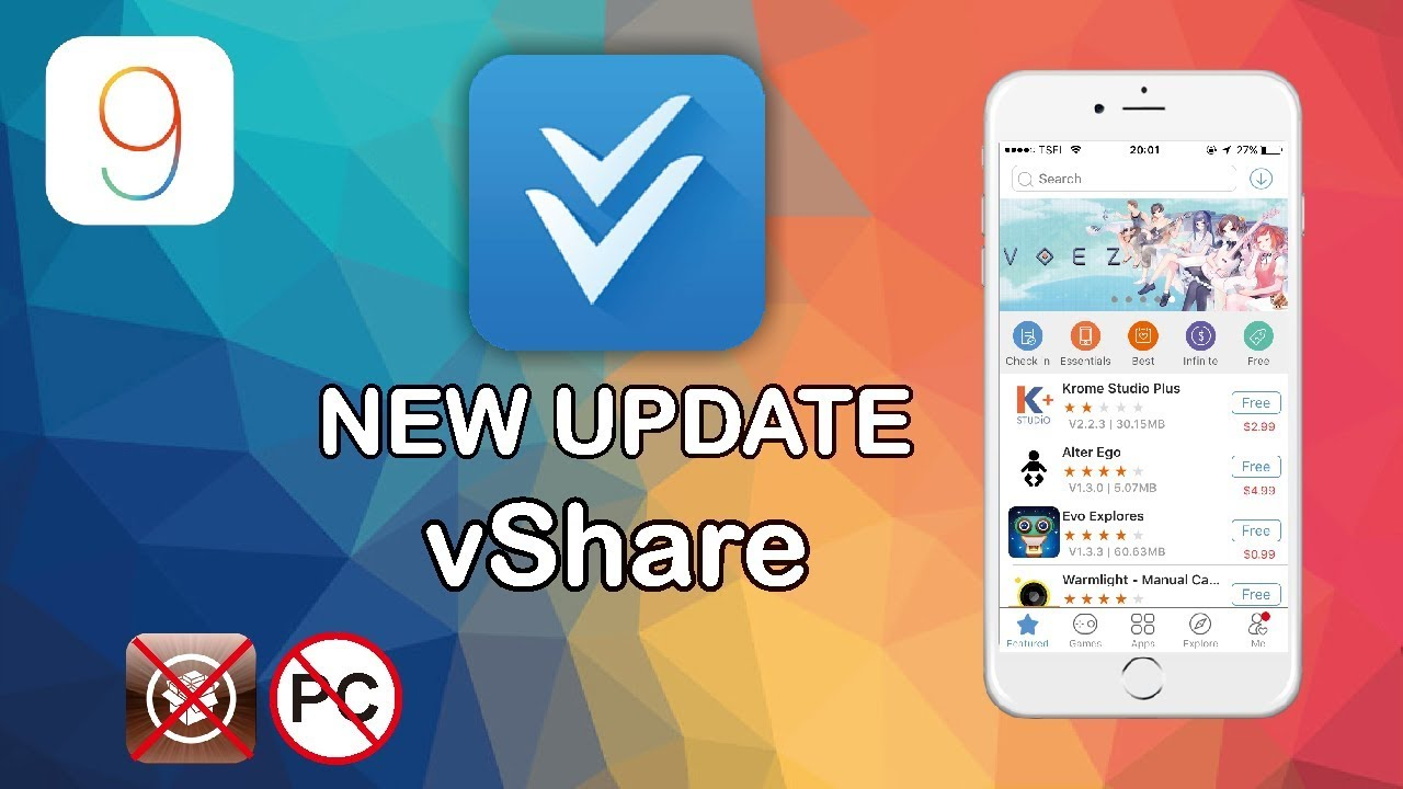 How to download Vshare for IOS without PC (free)