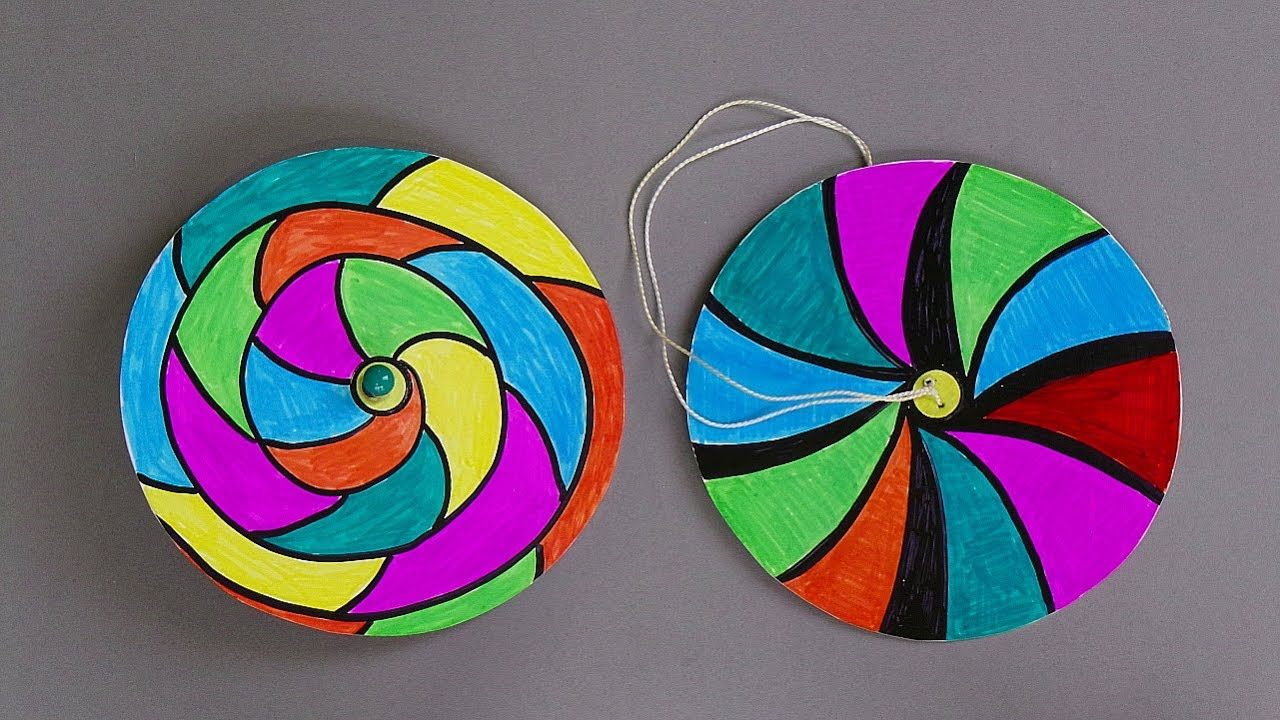 How to make paper spinners easy paper crafts for kids for How to make craft