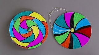 HOW TO MAKE PAPER SPINNERS / EASY PAPER CRAFTS FOR KIDS