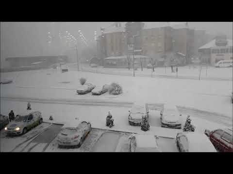 Derventa, snijeg 3.02.2018.