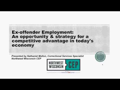 Northwest WI Business Services Webinar: Ex-Offender Employment