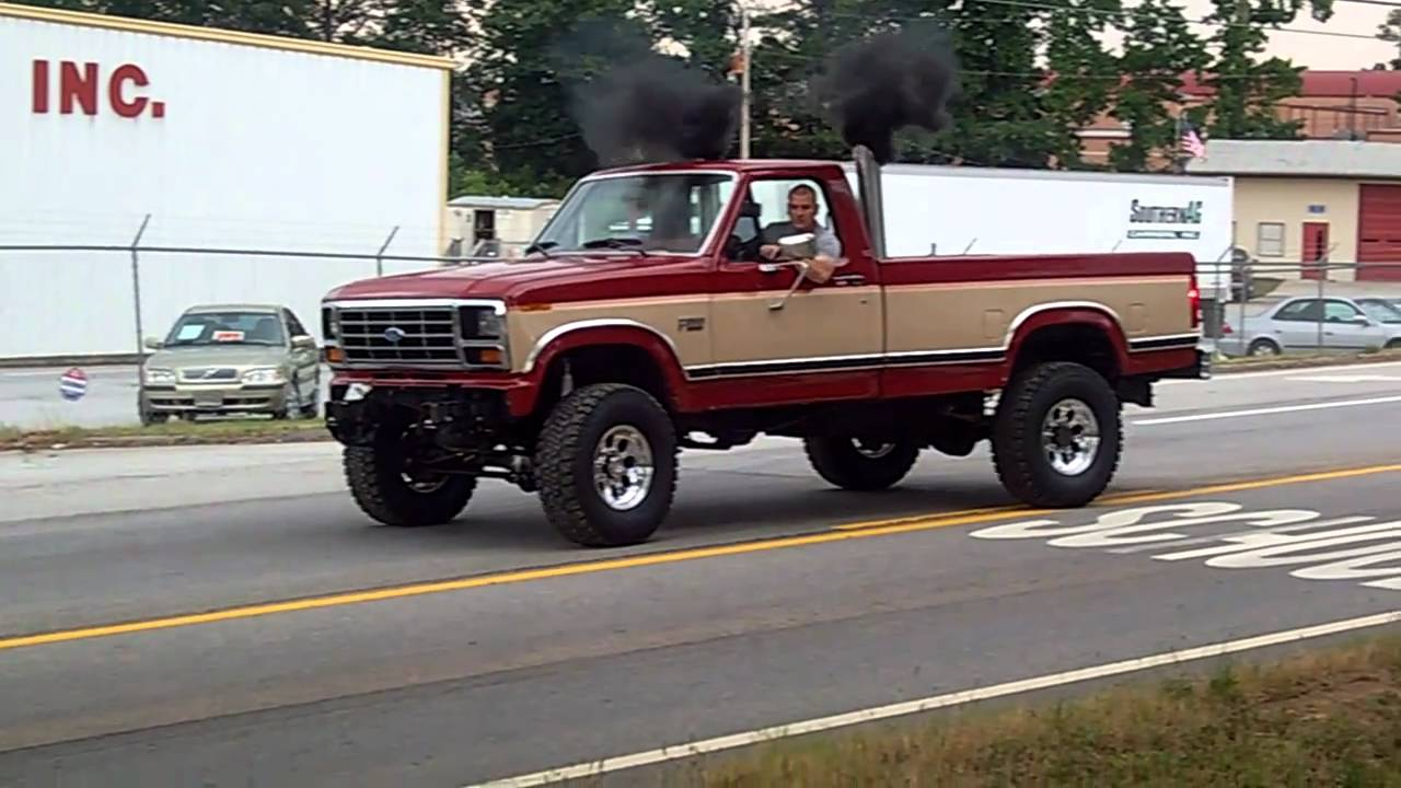 1986 ford f350 6 0 powerstroke diesel youtube. Black Bedroom Furniture Sets. Home Design Ideas