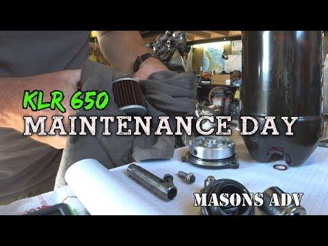 Post trip KLR 650 Maintenance day