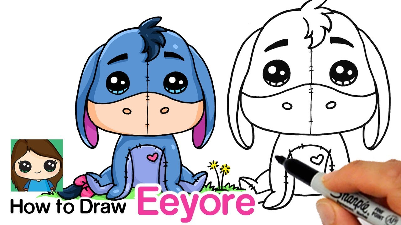 How To Draw Eeyore Winnie The Pooh Youtube