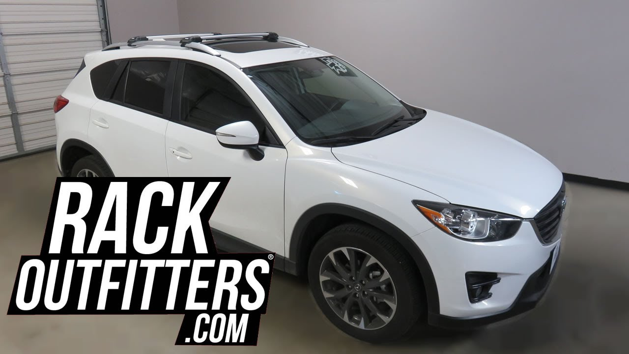 Mazda CX 5 with Thule AeroBlade Edge Roof Rack Crossbars ...
