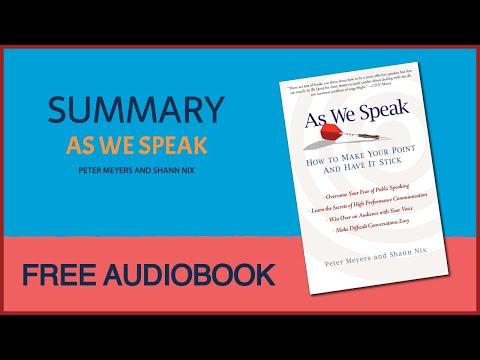 As We Speak by Peter Meyers and Shann Nix | Summary | Free Audiobook