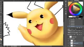 Selfie with Snorlax Munchlax and Pikachu Speed Digital Painting Digitalartistbem Bemmygail