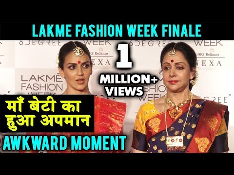 Upset Hema Malini and Esha Deol WALK OUT Of Lakme Fashion Week Media Conference | AWKWARD MOMENT