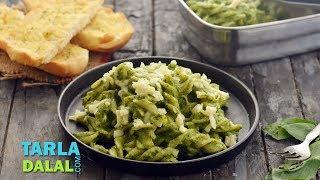 Creamy Pesto Pasta by Tarla Dalal