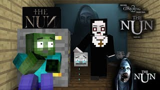 Monster School : The nun HORROR GAME CHALLENGE II - Minecraft Animation