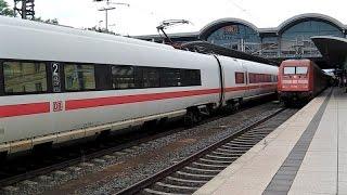 Mainz Hbf mit ICE-T, ICs (+CH-Werbelok), MittelrheinBahn, VT 628, S-Bahn Rhein-Main, Voith Maxima