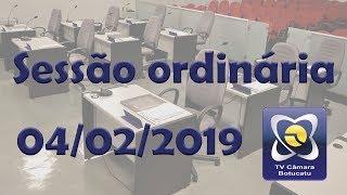 Sessão ordinária 04/02/2019