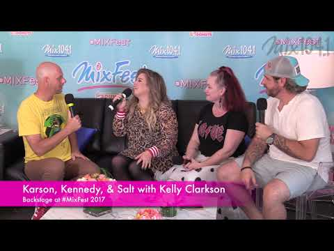 Karson and Kennedy Interview Kelly Clarkson at MixFest