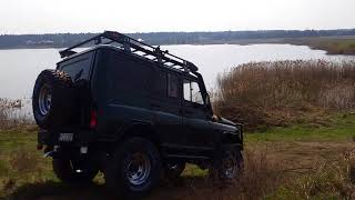 UAZ HUNTER small test drive  TARMOT 4x4