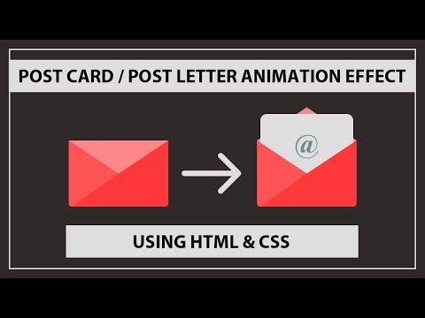 Post Card Animation Effect Using HTML And CSS - Post Letter Animation - CSS Animations