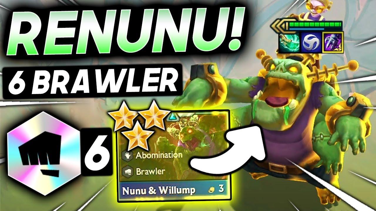 Download *6 BRAWLER ⭐⭐⭐ RE-NUNU BROKEN!* - TFT SET 5.5 Guide Teamfight Tactics Best Ranked Comps Strategy