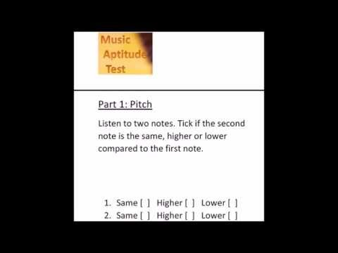 Music Aptitude Test (sample questions with answers)