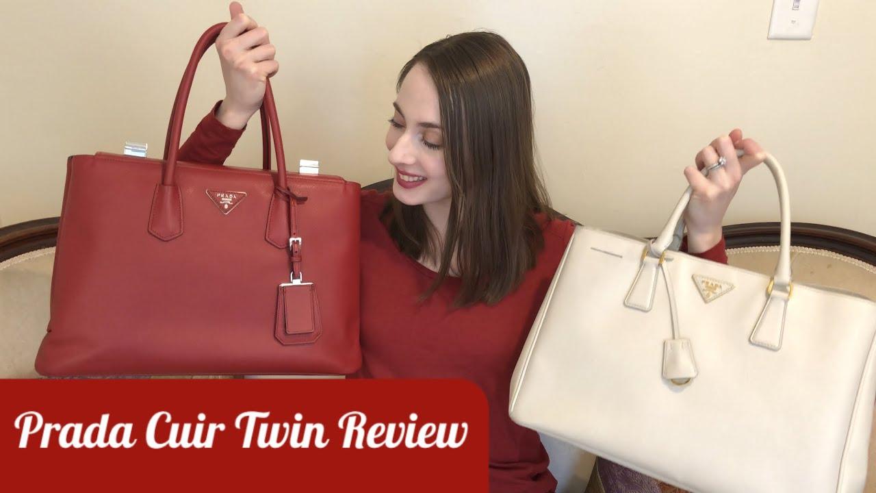 c0f84be258fc Prada Cuir Twin Saffiano Tote Bag Review   Comparison with Lux Tote ...