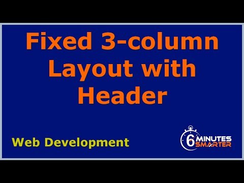 Fixed 3-column Layout with Header