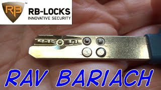 (1317) Rav Bariach Pin-In-Pin Dimple Lock Picked & Gutted