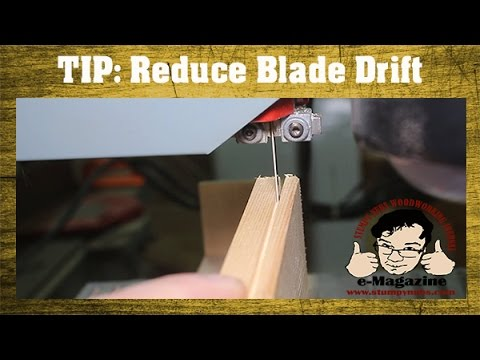 Woodworking Quick Tip #18- How to reduce blade drift while re-sawing on the band saw