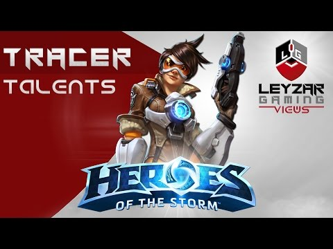 Heroes Of The Storm (HotS News) - Tracer Full Talents & Abilities (Slideshow)