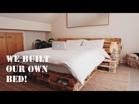 We built our own bed out of re-cycled pallets!