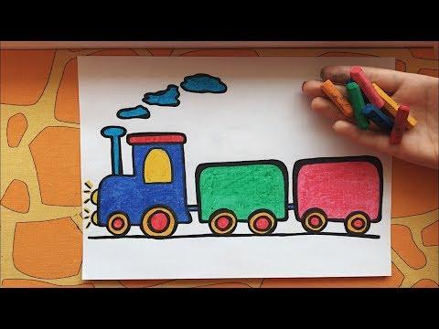 Как нарисовать паровоз