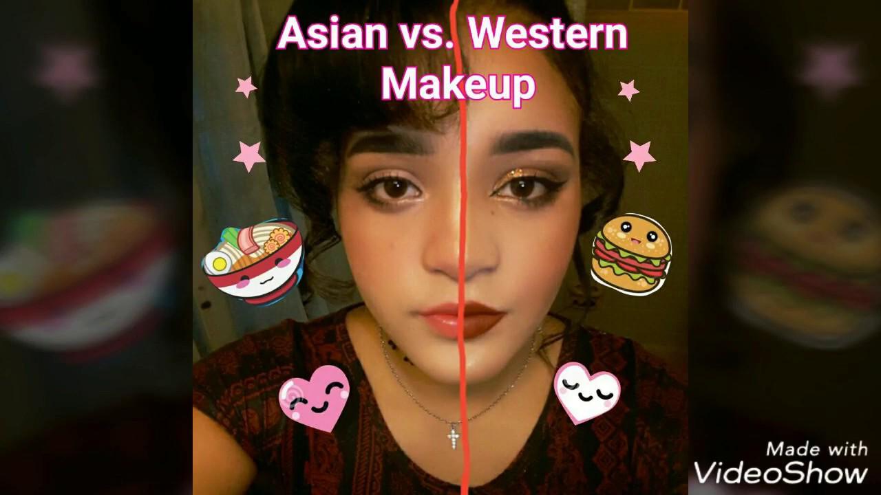 1fac3b15869 Asian vs. Western Makeup - YouTube