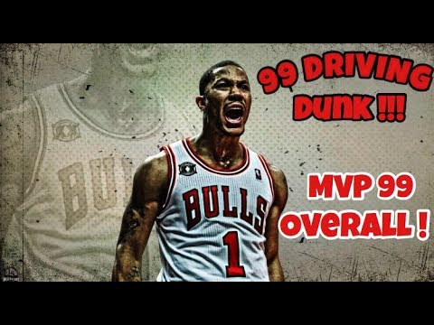 a2f231b7eed NBA 2K18 99 OVERALL MVP DERRICK ROSE PLAYER BUILD!!! GUARANTEED CONTACT  DUNKS!!!