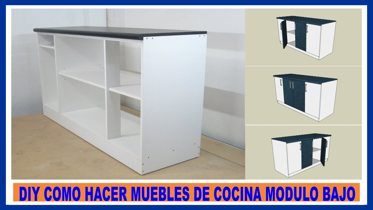 Como hacer muebles de cocina/ Módulo bajo de cocina en melamina/How ...