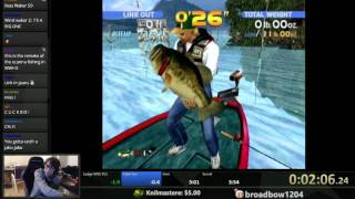 Sega Bass Fishing World Record 3:29 (Dreamcast) WR