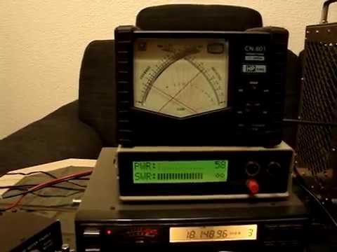 Digital SWR / Power meter & Daiwa CN-801 TEST.MPG on