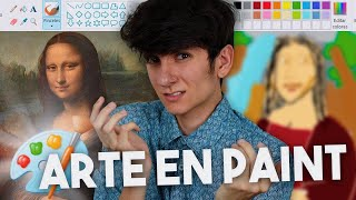 INTENTÉ recrear OBRAS DE ARTE con PAINT | Gus