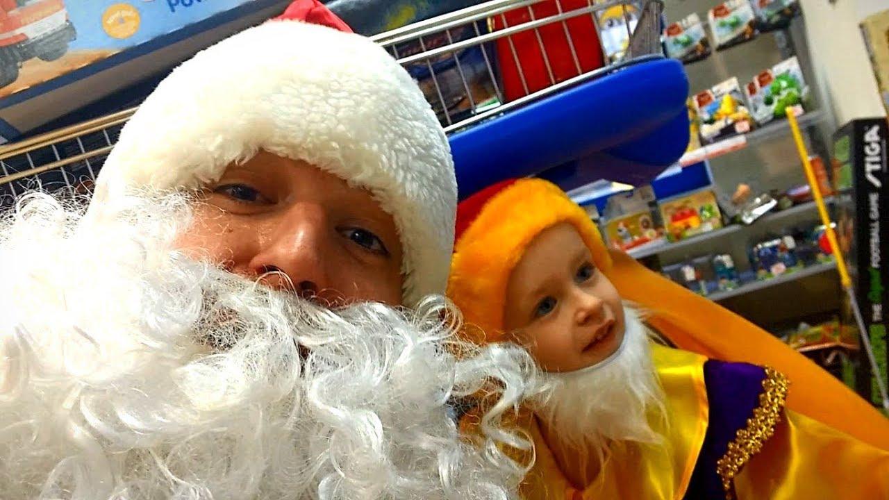 Дед Мороз догнал Гнома! Вся правда про Деда Мороза  Очень много игрушек видео для детей (буба)  ,e,f