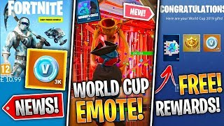 World Cup Emote LEAKED, 3000 VBucks For $15, Free WC Items, Ninja Hacked, Season 10! - Fortnite News