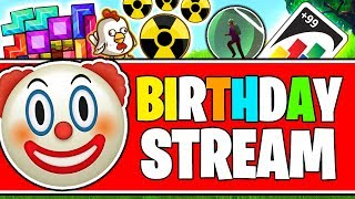 🔴 BIRTHDAY STREAM (200% LOUDER DONATIONS HEADPHONE WARNING!!!) - ALL GAMES (GOLF, UNO, IO, MC, FN)