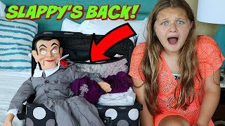 Slappy's Back!! We Can't Get Rid Of Slappy! Goosebumps In Real Life!