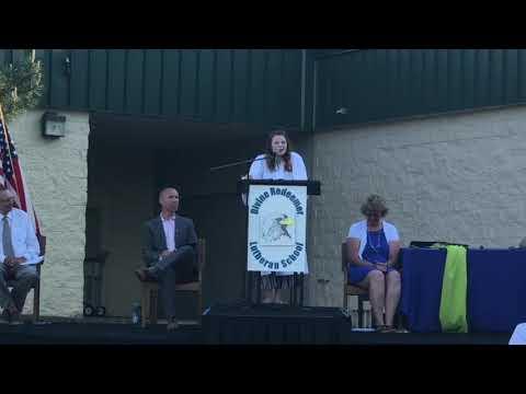 Kayley's Eighth Grade Graduation Speech (Divine Redeemer Lutheran School)
